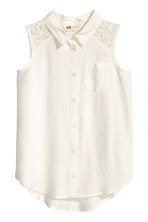 Sleeveless blouse - White - Kids | H&M CN 2